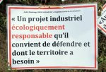21 septembre 2019 St Rambert d'Albon, contre destruction terres agricoles par zone industrielle {JPEG}